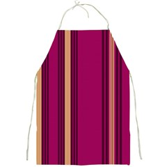 Stripes Background Wallpaper In Purple Maroon And Gold Full Print Aprons