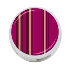 Stripes Background Wallpaper In Purple Maroon And Gold 4 Port Usb Hub (one Side) by Simbadda