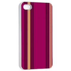 Stripes Background Wallpaper In Purple Maroon And Gold Apple Iphone 4/4s Seamless Case (white)
