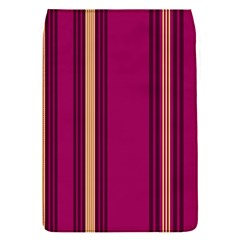 Stripes Background Wallpaper In Purple Maroon And Gold Flap Covers (s)  by Simbadda