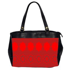 Red Flowers Velvet Flower Pattern Office Handbags (2 Sides)  by Simbadda