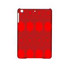 Red Flowers Velvet Flower Pattern Ipad Mini 2 Hardshell Cases by Simbadda
