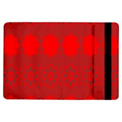 Red Flowers Velvet Flower Pattern Ipad Air Flip by Simbadda
