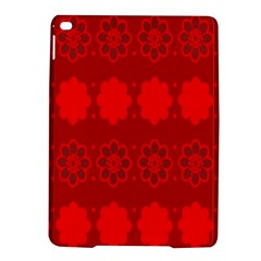Red Flowers Velvet Flower Pattern Ipad Air 2 Hardshell Cases by Simbadda