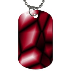Red Abstract Background Dog Tag (two Sides) by Simbadda