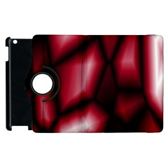 Red Abstract Background Apple Ipad 2 Flip 360 Case by Simbadda