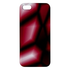 Red Abstract Background Apple Iphone 5 Premium Hardshell Case by Simbadda