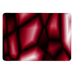 Red Abstract Background Samsung Galaxy Tab 8 9  P7300 Flip Case by Simbadda