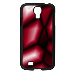 Red Abstract Background Samsung Galaxy S4 I9500/ I9505 Case (black) by Simbadda