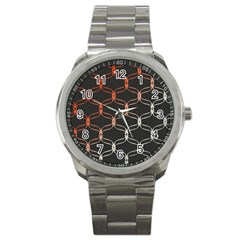 Cadenas Chinas Abstract Design Pattern Sport Metal Watch by Simbadda