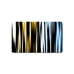 Digitally Created Striped Abstract Background Texture Magnet (name Card) by Simbadda