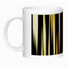 Digitally Created Striped Abstract Background Texture Night Luminous Mugs by Simbadda
