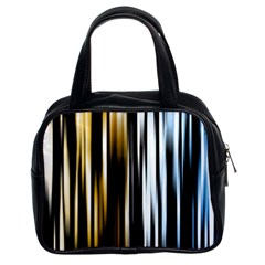 Digitally Created Striped Abstract Background Texture Classic Handbags (2 Sides) by Simbadda