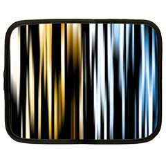 Digitally Created Striped Abstract Background Texture Netbook Case (xl)  by Simbadda