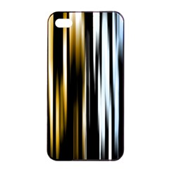 Digitally Created Striped Abstract Background Texture Apple iPhone 4/4s Seamless Case (Black)