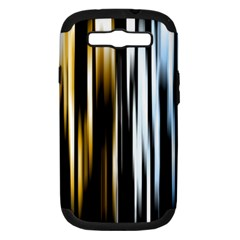 Digitally Created Striped Abstract Background Texture Samsung Galaxy S Iii Hardshell Case (pc+silicone) by Simbadda