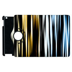 Digitally Created Striped Abstract Background Texture Apple Ipad 2 Flip 360 Case by Simbadda