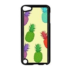 Colorful Pineapples Wallpaper Background Apple Ipod Touch 5 Case (black) by Simbadda