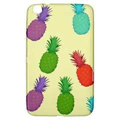 Colorful Pineapples Wallpaper Background Samsung Galaxy Tab 3 (8 ) T3100 Hardshell Case  by Simbadda