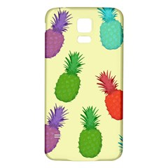 Colorful Pineapples Wallpaper Background Samsung Galaxy S5 Back Case (white) by Simbadda