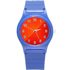 Abstract Clutter Baffled Field Round Plastic Sport Watch (s) by Simbadda