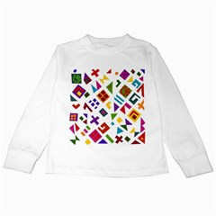 A Colorful Modern Illustration For Lovers Kids Long Sleeve T Shirts by Simbadda