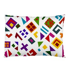 A Colorful Modern Illustration For Lovers Pillow Case (two Sides) by Simbadda