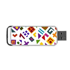 A Colorful Modern Illustration For Lovers Portable Usb Flash (two Sides) by Simbadda