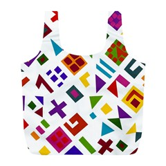 A Colorful Modern Illustration For Lovers Full Print Recycle Bags (l)  by Simbadda