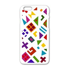 A Colorful Modern Illustration For Lovers Apple Iphone 6/6s White Enamel Case by Simbadda