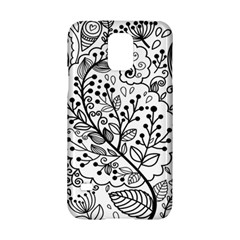 Black Abstract Floral Background Samsung Galaxy S5 Hardshell Case  by Simbadda