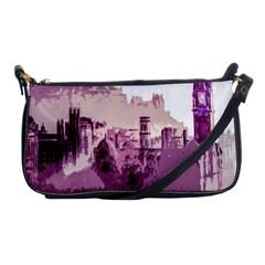 Abstract Painting Edinburgh Capital Of Scotland Shoulder Clutch Bags by Simbadda
