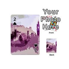 Abstract Painting Edinburgh Capital Of Scotland Playing Cards 54 (mini)  by Simbadda