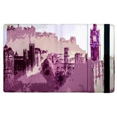 Abstract Painting Edinburgh Capital Of Scotland Apple Ipad 3/4 Flip Case by Simbadda