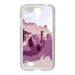 Abstract Painting Edinburgh Capital Of Scotland Samsung Galaxy S4 I9500/ I9505 Case (white) by Simbadda