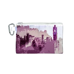 Abstract Painting Edinburgh Capital Of Scotland Canvas Cosmetic Bag (s) by Simbadda