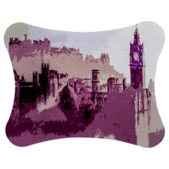Abstract Painting Edinburgh Capital Of Scotland Jigsaw Puzzle Photo Stand (bow) by Simbadda
