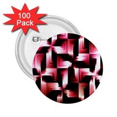 Red And Pink Abstract Background 2 25  Buttons (100 Pack)  by Simbadda