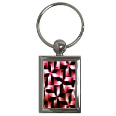 Red And Pink Abstract Background Key Chains (rectangle)  by Simbadda