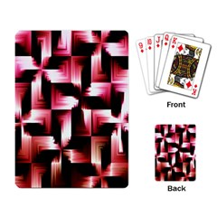 Red And Pink Abstract Background Playing Card