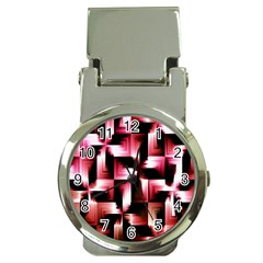Red And Pink Abstract Background Money Clip Watches by Simbadda