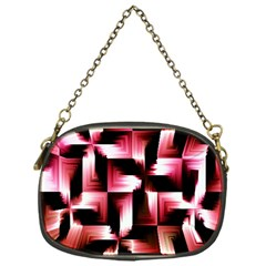 Red And Pink Abstract Background Chain Purses (one Side)  by Simbadda