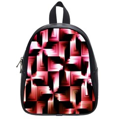 Red And Pink Abstract Background School Bags (small)  by Simbadda