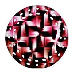Red And Pink Abstract Background Ornament (round Filigree) by Simbadda