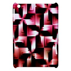 Red And Pink Abstract Background Apple Ipad Mini Hardshell Case by Simbadda