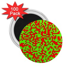 Colorful Qr Code Digital Computer Graphic 2 25  Magnets (100 Pack)  by Simbadda