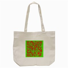 Colorful Qr Code Digital Computer Graphic Tote Bag (cream) by Simbadda