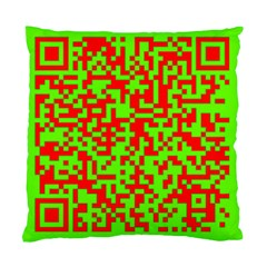 Colorful Qr Code Digital Computer Graphic Standard Cushion Case (one Side) by Simbadda