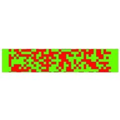 Colorful Qr Code Digital Computer Graphic Flano Scarf (small) by Simbadda