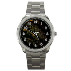 Abstract Background Sport Metal Watch by Simbadda